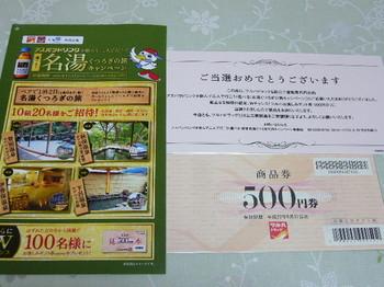 20100323 ツルハドラッグ×田辺三菱製薬 ツルハお楽しみギフト券500円分.JPG