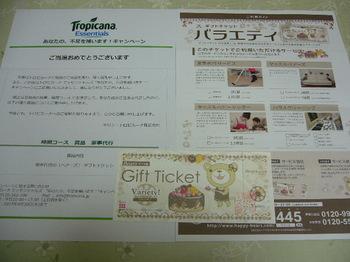 20150419 キリン・トロピカーナ 家事代行のベアーズギフトチケット.JPG