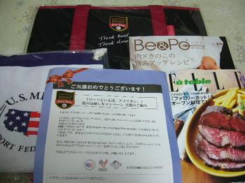 20150926 米国食肉輸出連合会 オリジナルクーラーバッグ&エプロンセット.JPG