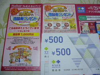 20190201 ニチリウ サツドラ商品券1,000円分.JPG